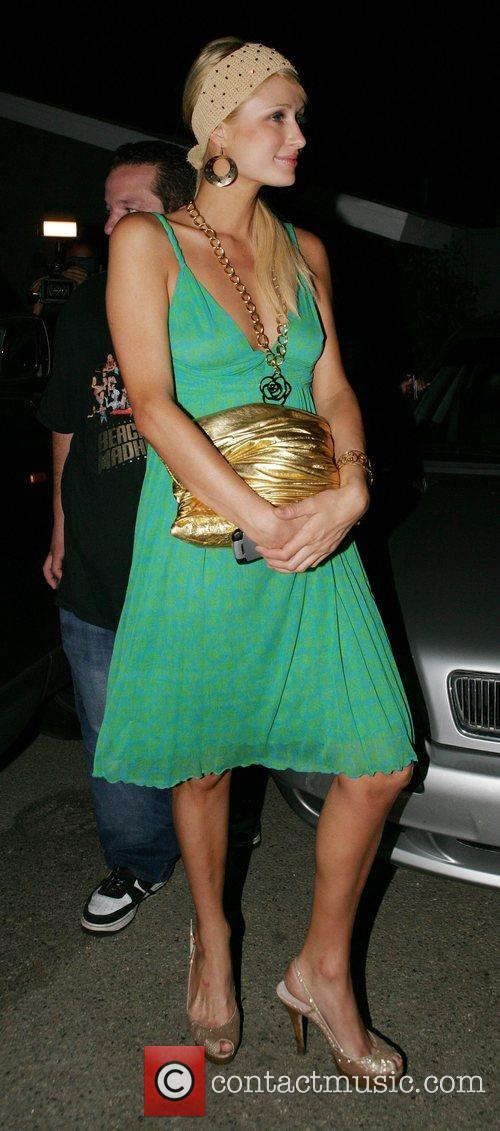 Paris Hilton leaving her home for an evening...