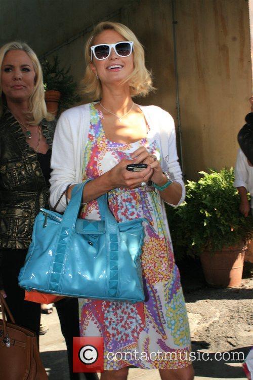 Paris Hilton leaving Orso restaurant in West Hollywood...