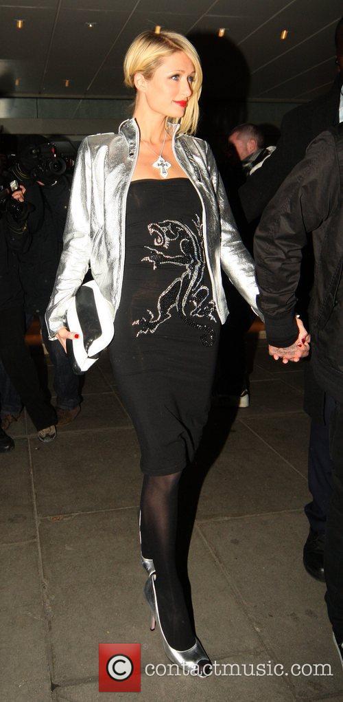 Paris Hilton and her boyfriend Benji Madden of...