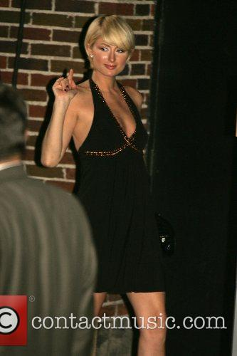 Paris Hilton leaving her Manhattan hotel New York...