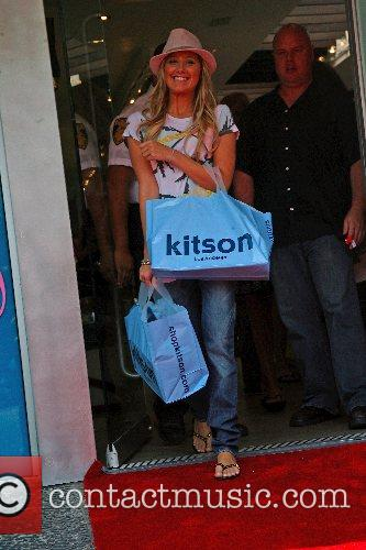 Paris Hilton promotes her new clothing line at...