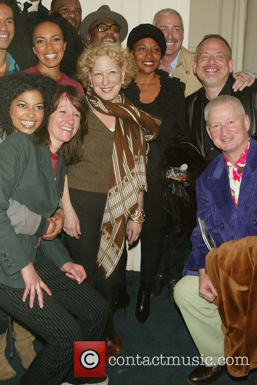 Bette Midler, Her Husband Martin Von Haselburg, Jenifer Lewis, Scott Wittman and Marc Shaiman Visit The Cast Of The New Broadway Musical 'passing Strange' At The Belasco Theatre 2