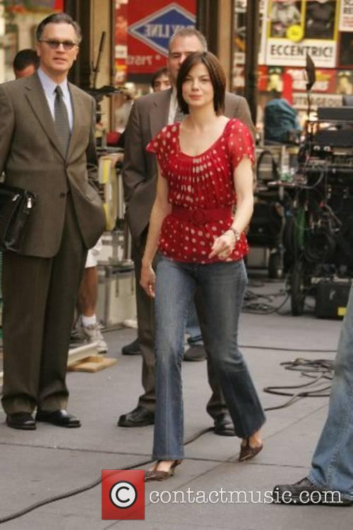 Michelle Monaghan filming a scene for her upcoming...