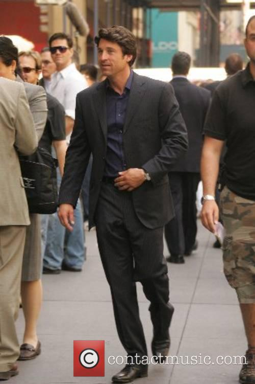 Patrick Dempsey films a scene for his upcoming...