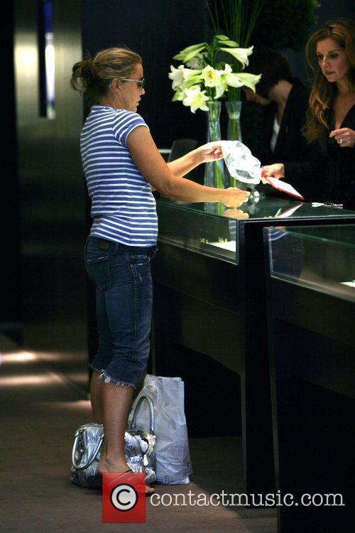 Patsy Kensit shopping in Cartier on Bond Street...
