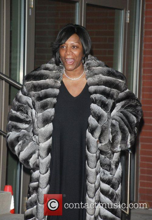 A make-up less Patti LaBelle arrives at the...