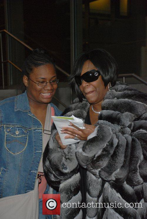 make-up less Patti LaBelle arrives at the Kimmel Center for