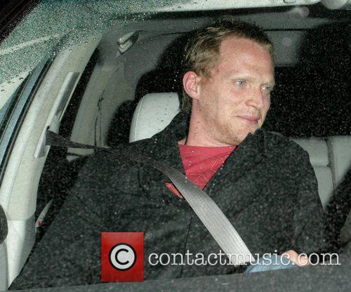 Paul Bettany leaving Il Sole restaurant on Sunset...