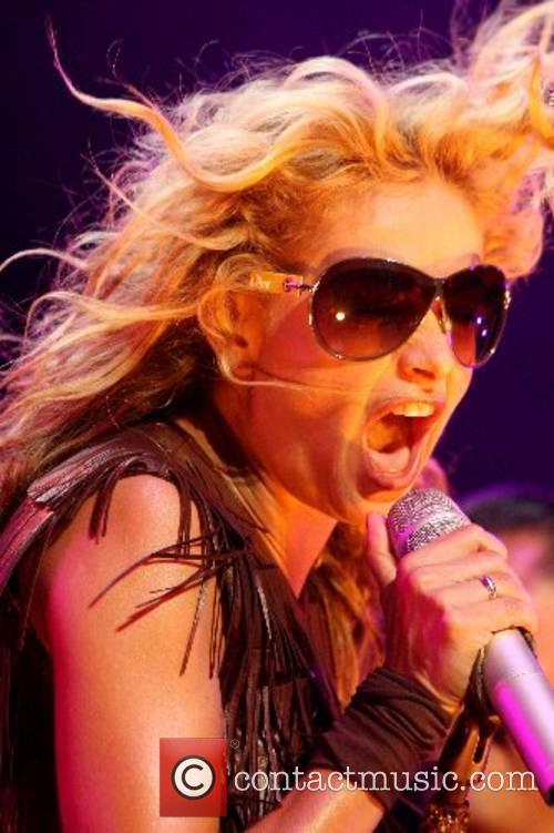 Paulina Rubio performing live in concert at the...