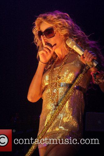 Paulina Rubio performing at The Pearl Theatre In...