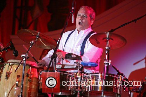 Desi Arnaz  performing on drums for the...