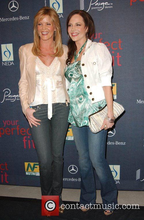 Paige Adams Geller and Julie Benz The launch...