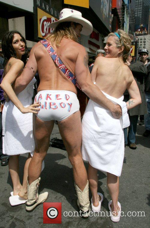 The Naked Cowboy and two naked Peta protesters...
