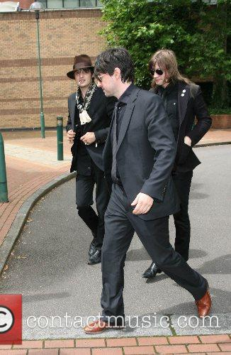 Pete Doherty arriving at court for his first...