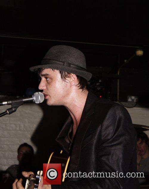 Pete Doherty performs live at an intimate last-minute...