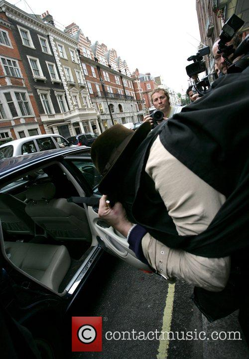 Pete Doherty  seen leaving Claridges hotel and...