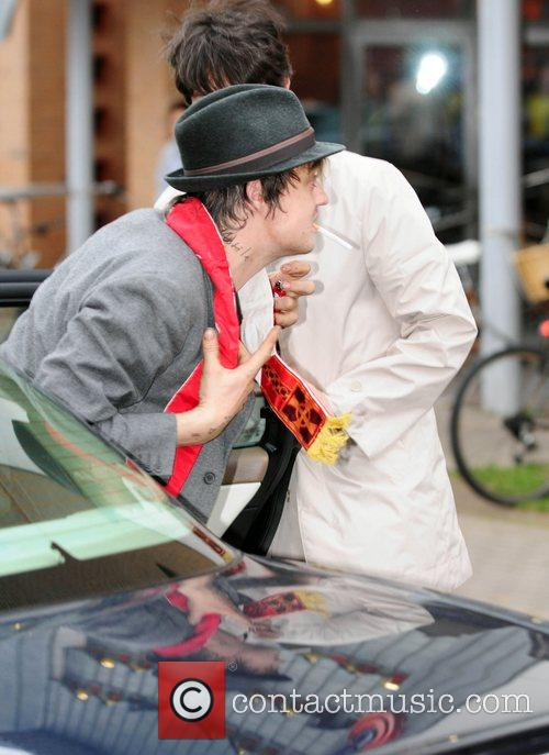 Pete Doherty arrives to perform at the Manchester...
