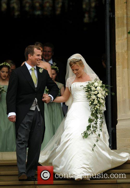 Peter Phillips marries Autumn Kelly  at St....