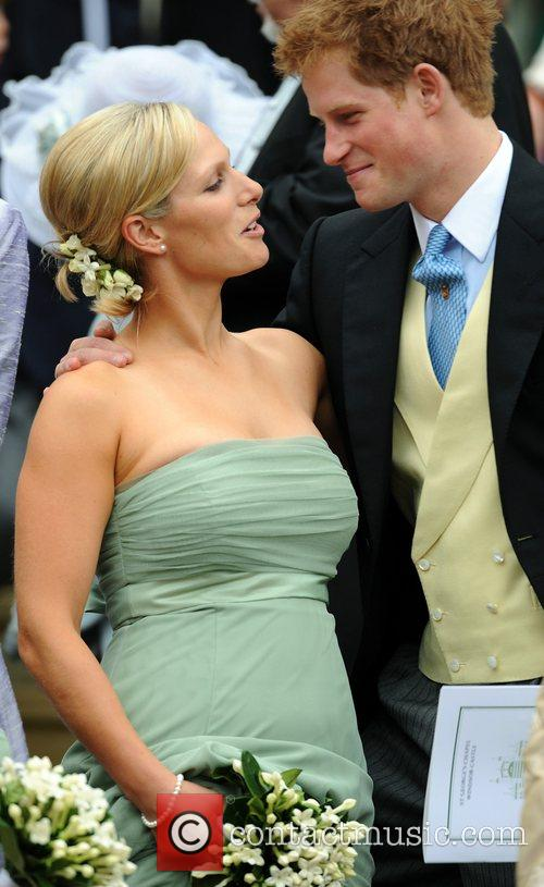 Prince Harry, Peter Phillips and Zara Phillips 2