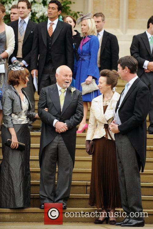 The bride's father, Brian Kelly, chats to the...