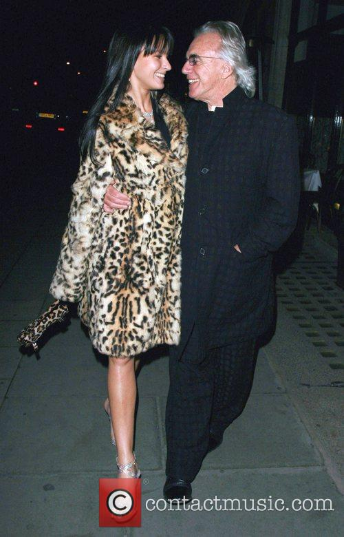 Peter Stringfellow and wife Bella Stringfellow at Scott's...