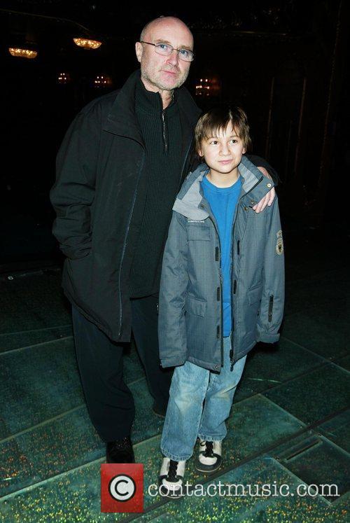 Phil Collins amd Brian D'Addario at Broadway's New...