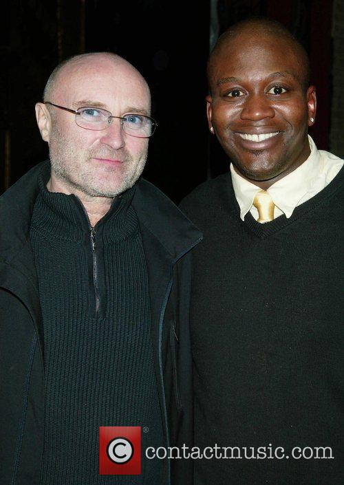 Phil Collins and Tituss Burgess at Broadway's New...