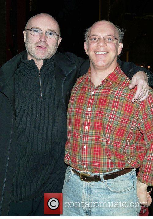 Phil Collins and Eddie Korbich at Broadway's New...