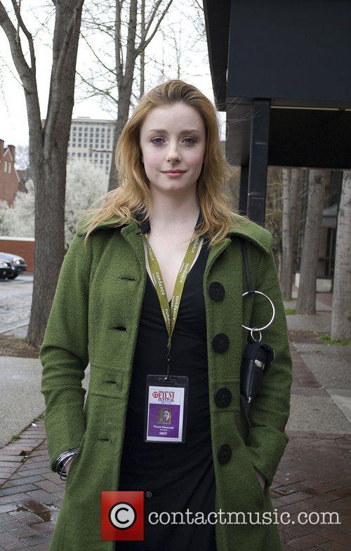Fiona Glascott outside the 17th Philadelphia Film Festival...