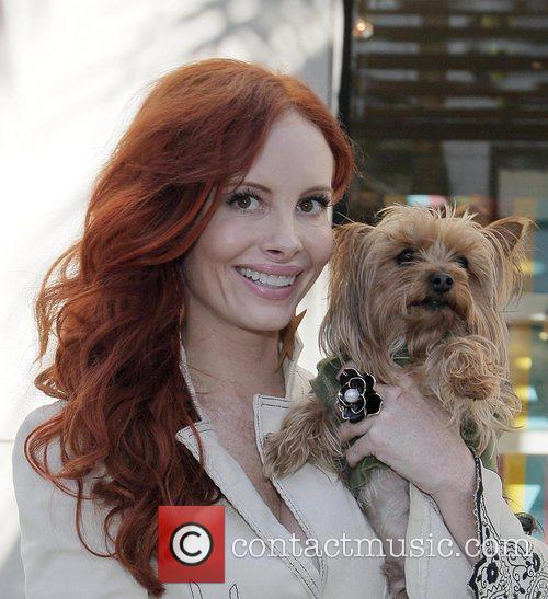 Actress Phoebe Price shopping on Rodeo Drive with...