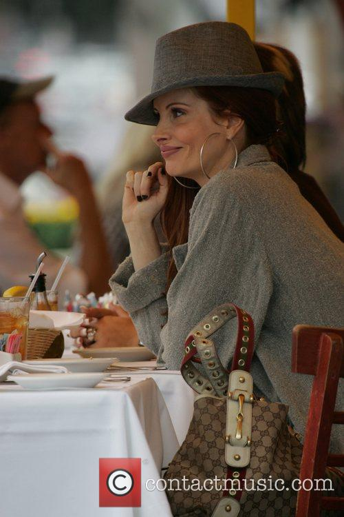 Phoebe Price eating at the Ivy Los Angeles,...