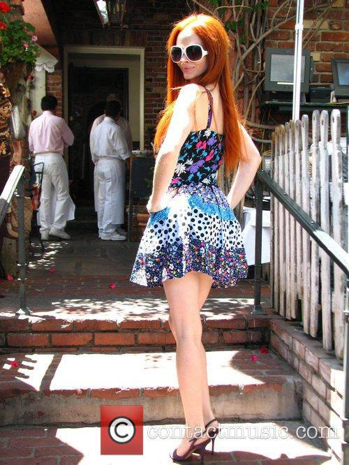 Phoebe Price back from Cannes lunching at the...