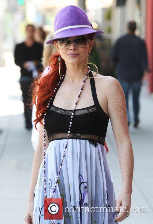 Phoebe Price shopping on Robertson Boulevard Los Angeles,...