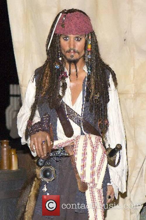 Wax figure of Johnny Depp as Captain Jack...