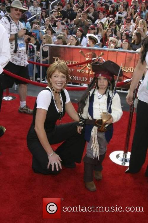 Lauren Holly and her son Azer World Premiere...