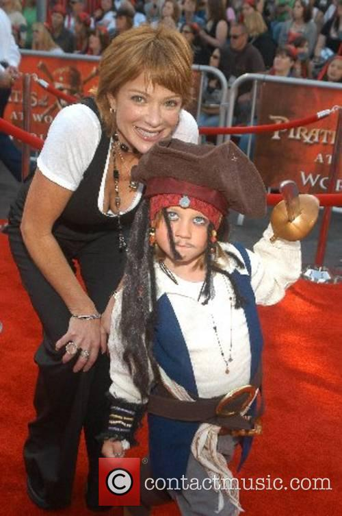 Lauren Holly and her son Asir World Premiere...