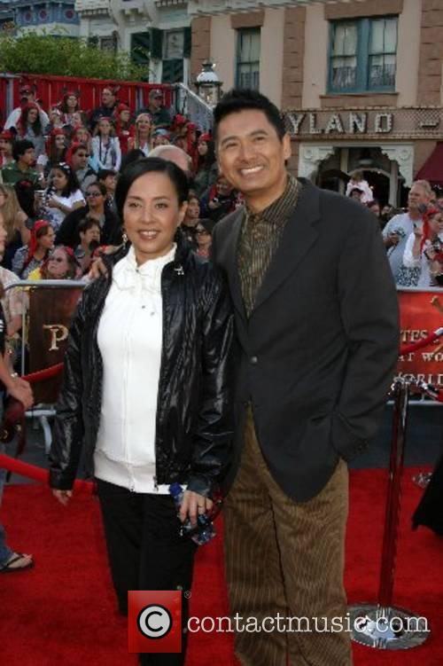 Chow Yun-Fat and his wife World Premiere of...