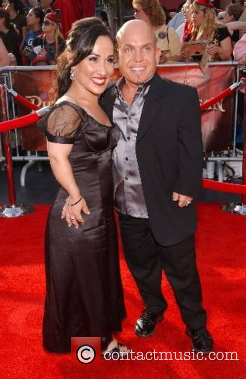 Martin Klebba and Guest World Premiere of Walt...