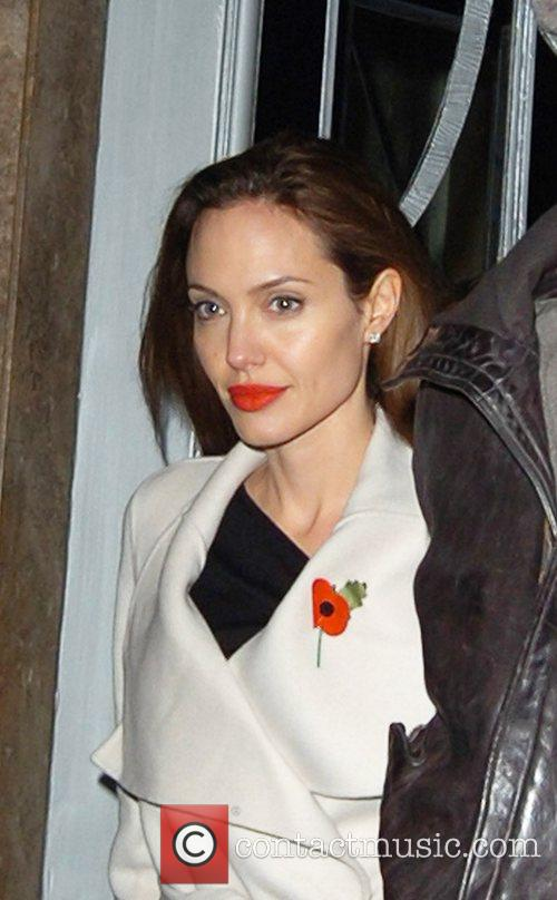 Angelina Jolie  leaving her hotel London, England