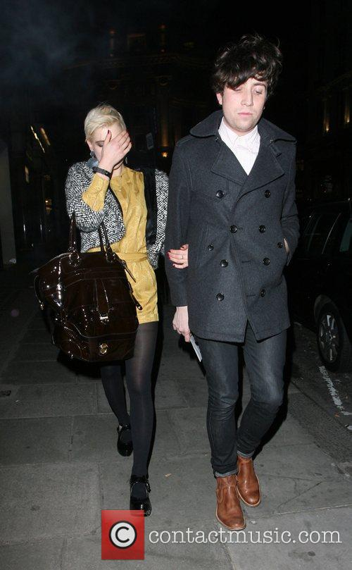 Pixie Geldof and Nick Grimshaw arrive at Sketch...