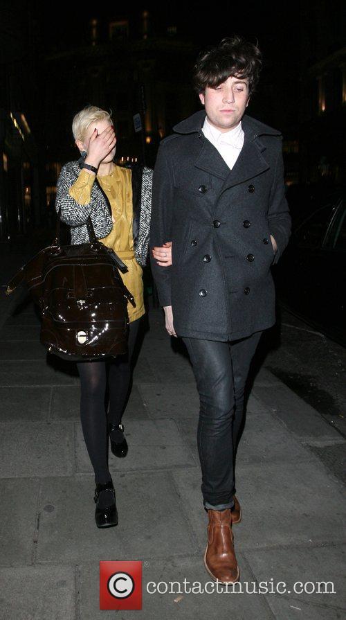 Pixie Geldof and Nick Grimshaw arrive at Sketch...