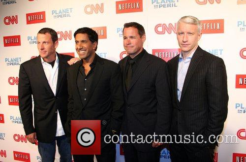 Lance Armstrong, Dr. Sanjay Gupta, Jeff Corwin and Anderson Cooper 2
