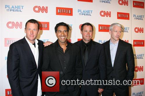 Lance Armstrong, Dr. Sanjay Gupta, Jeff Corwin and Anderson Cooper 7