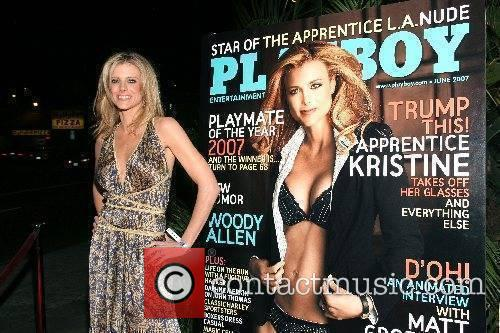 Kristine Lefebvre Playboy Magazine June issue release party...