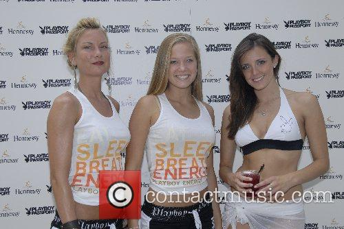 Francine, Stephanie and Gina Daniels Playboy Party at...