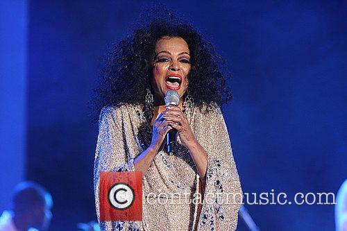 Diana Ross performing at the Plymouth Jazz Festival...