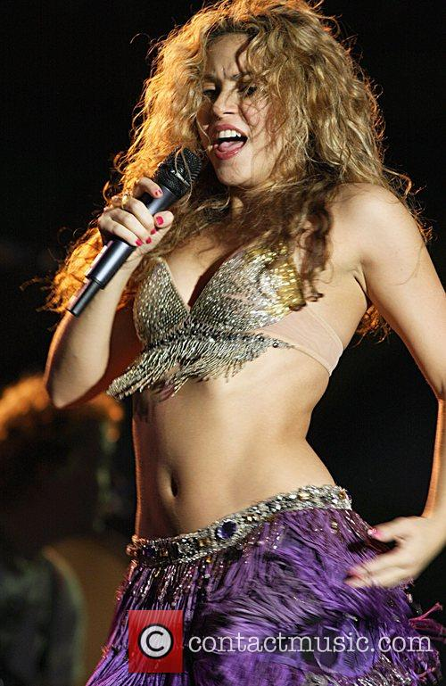 Shakira performing at the Plymouth Jazz Festival 2008...