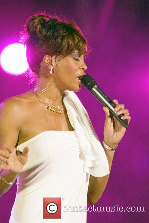 Whitney Houston performing at the 2008 Plymouth Jazz...