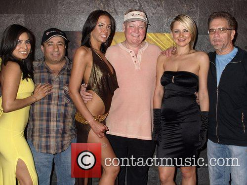 Freddy Deeb and Russ Hamilton with female entertainers...