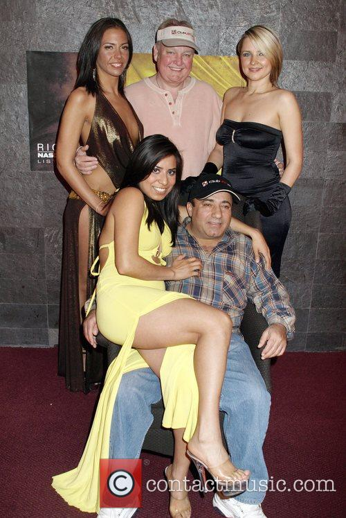 Russ Hamilton and Freddy Deeb with female entertainers...